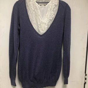 Banana Republic Blue V Neck Sweater Size M